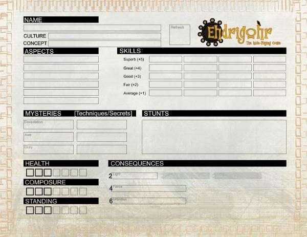 Ehdrigohr Character Sheet