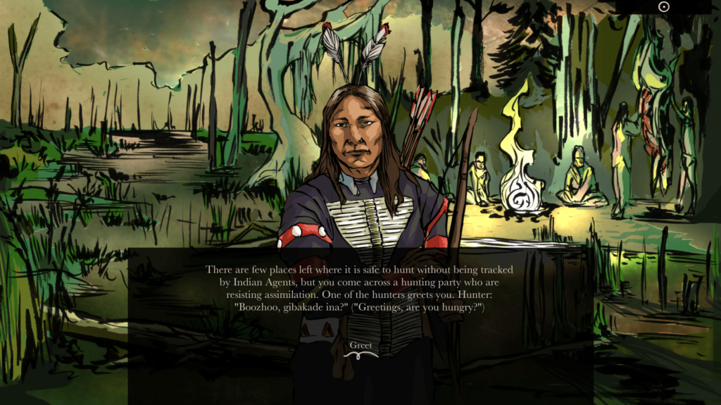 "A scene from ""When Rivers Were Trails"" produced by the Indian Land Tenure Foundation"